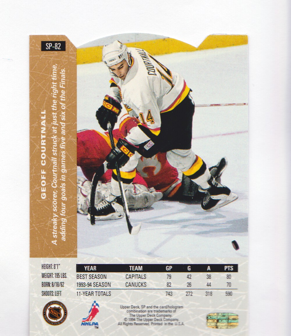 1994-95-Upper-Deck-SP-Inserts-Die-Cuts-Hockey-Cards-Pick-From-List miniature 47