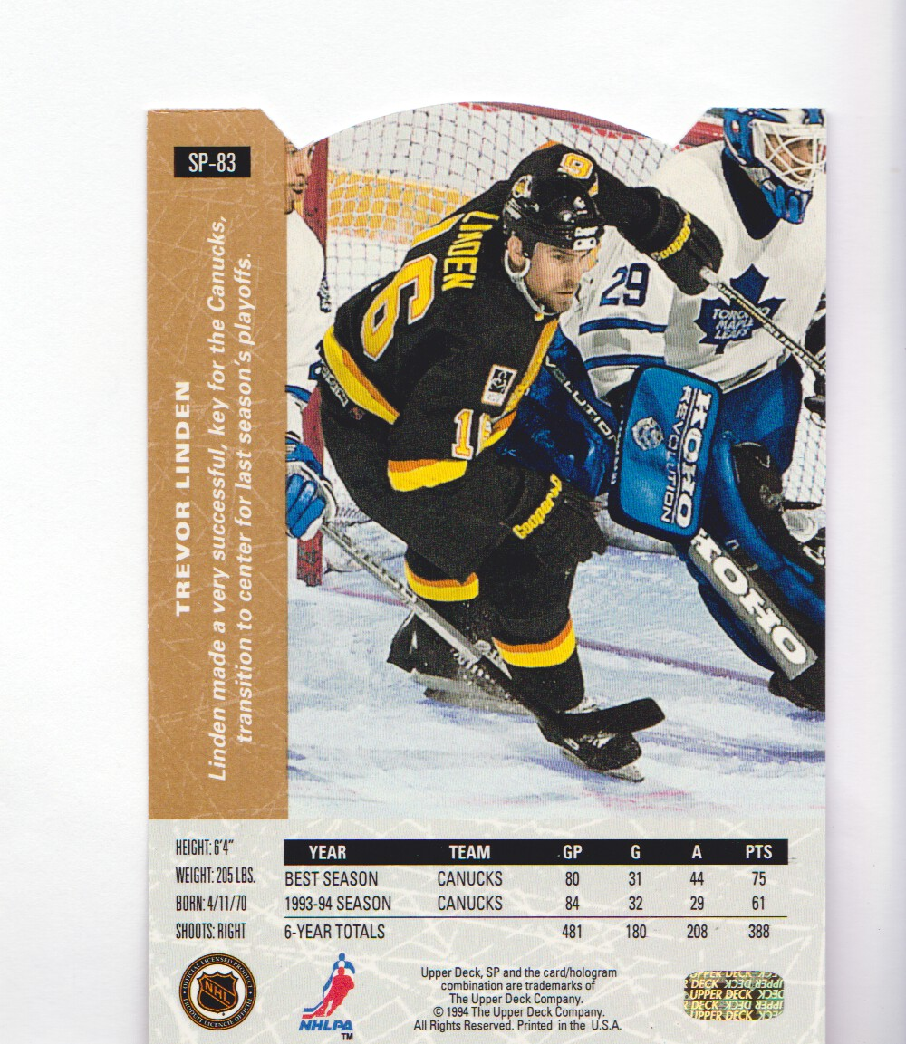 1994-95-Upper-Deck-SP-Inserts-Die-Cuts-Hockey-Cards-Pick-From-List miniature 49