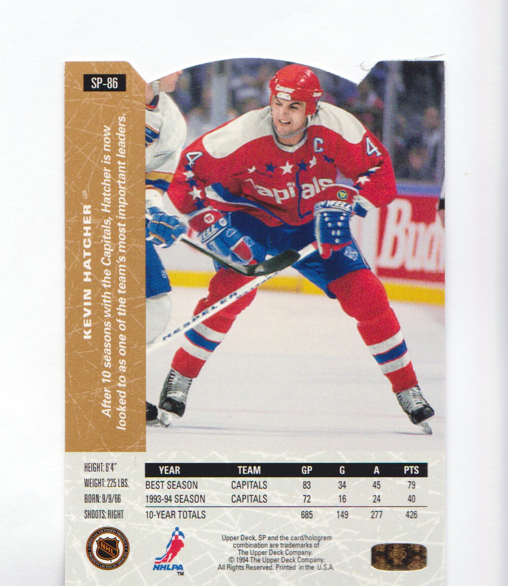 1994-95-Upper-Deck-SP-Inserts-Die-Cuts-Hockey-Cards-Pick-From-List miniature 51