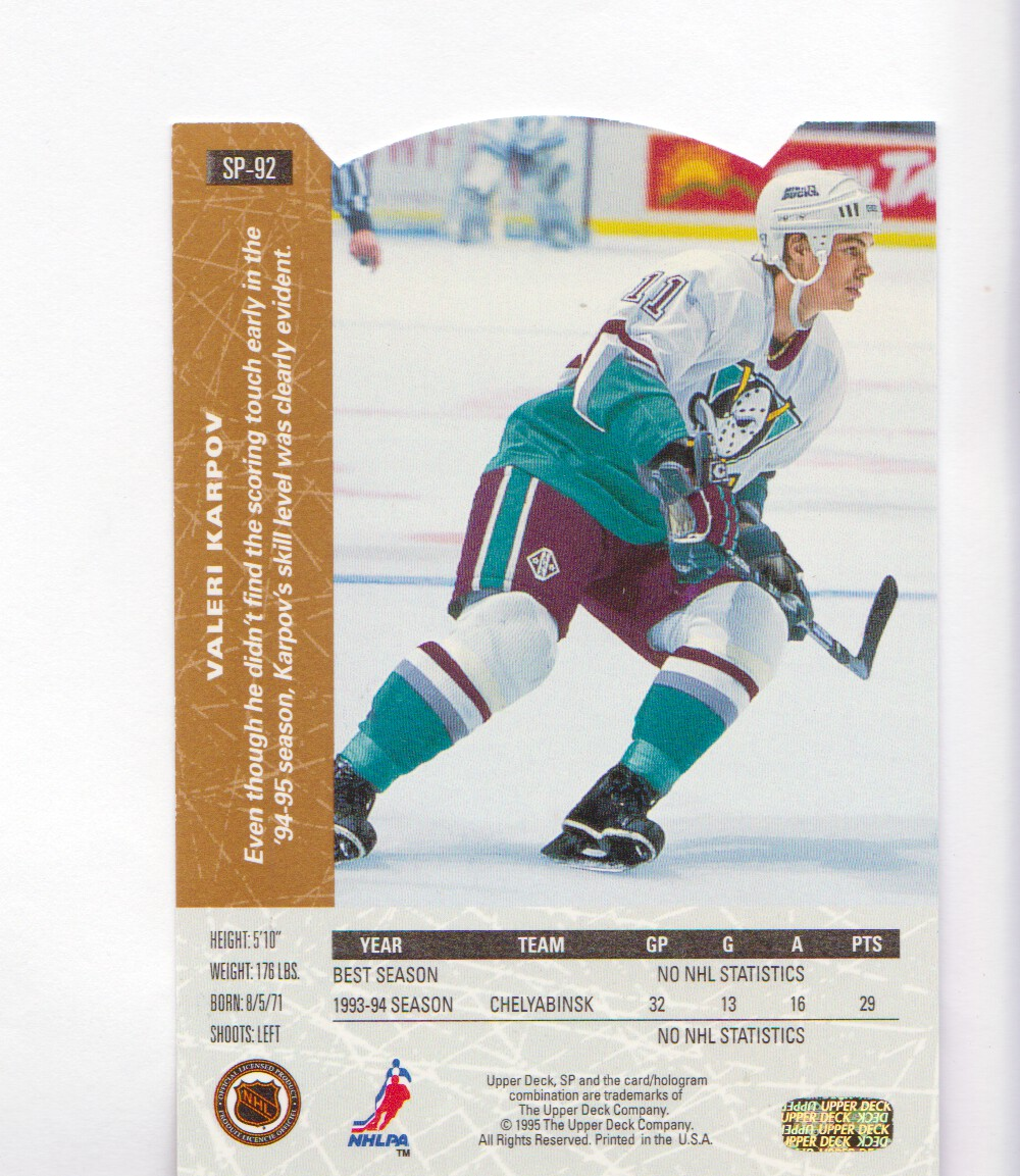 1994-95-Upper-Deck-SP-Inserts-Die-Cuts-Hockey-Cards-Pick-From-List miniature 53