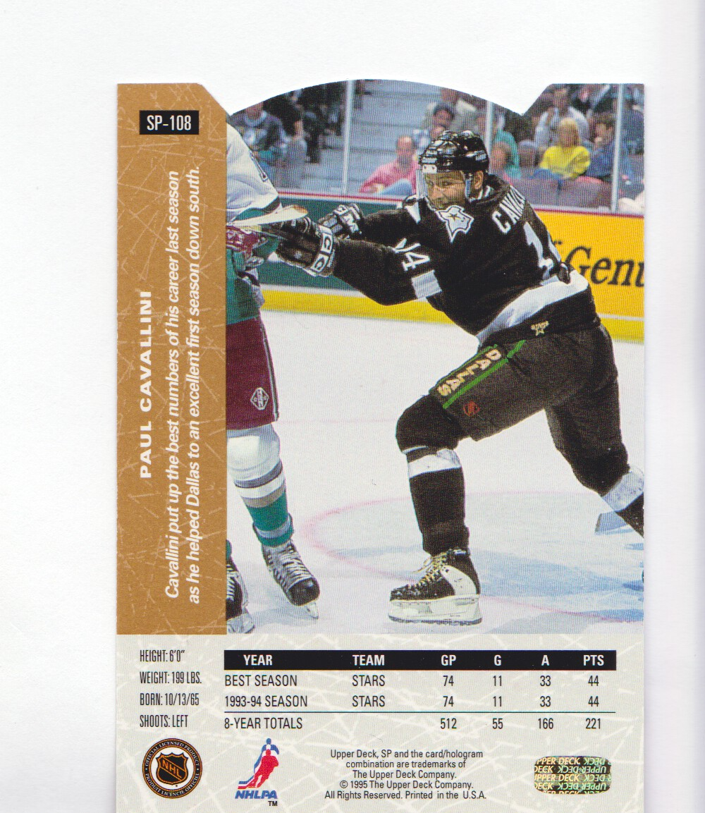 1994-95-Upper-Deck-SP-Inserts-Die-Cuts-Hockey-Cards-Pick-From-List miniature 67