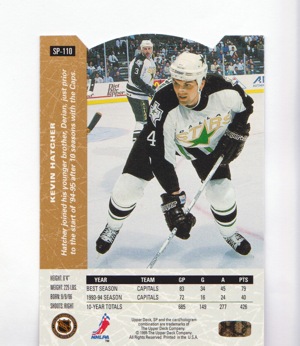 1994-95-Upper-Deck-SP-Inserts-Die-Cuts-Hockey-Cards-Pick-From-List miniature 69