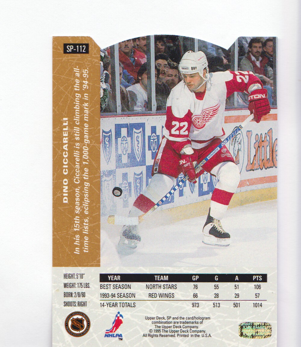 1994-95-Upper-Deck-SP-Inserts-Die-Cuts-Hockey-Cards-Pick-From-List miniature 71