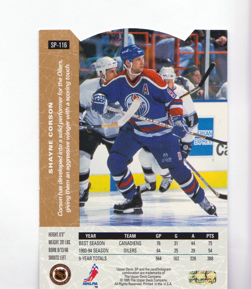 1994-95-Upper-Deck-SP-Inserts-Die-Cuts-Hockey-Cards-Pick-From-List miniature 73