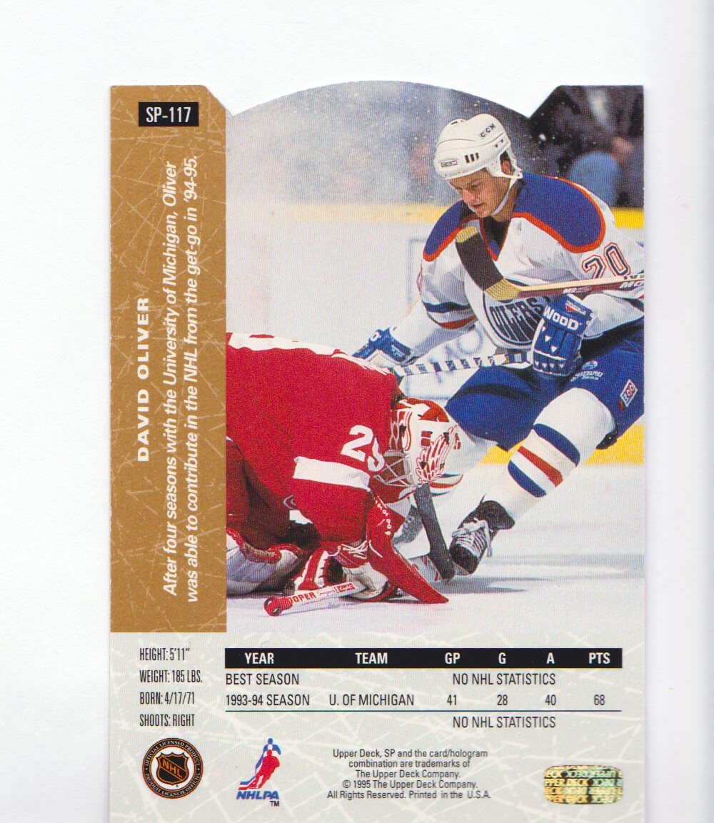 1994-95-Upper-Deck-SP-Inserts-Die-Cuts-Hockey-Cards-Pick-From-List miniature 75