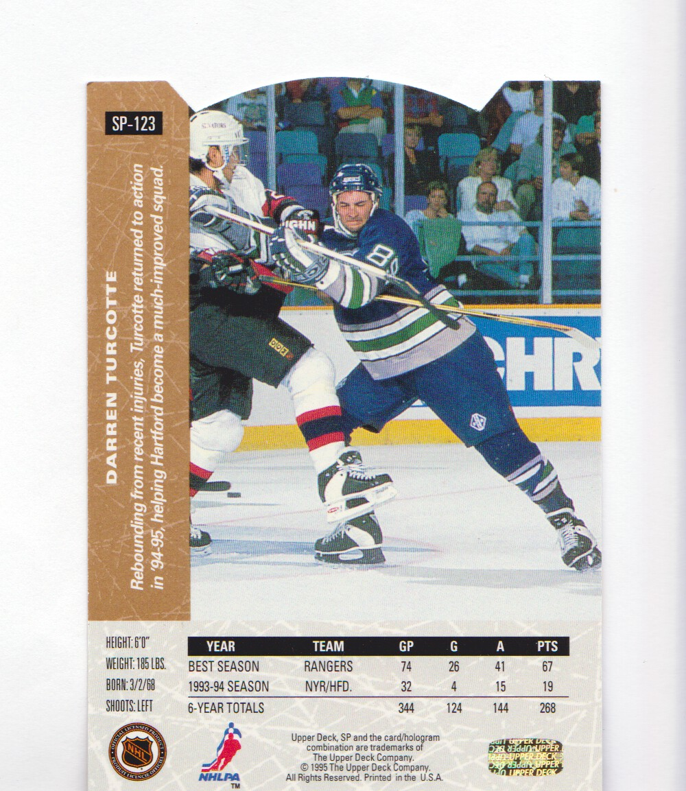 1994-95-Upper-Deck-SP-Inserts-Die-Cuts-Hockey-Cards-Pick-From-List miniature 83
