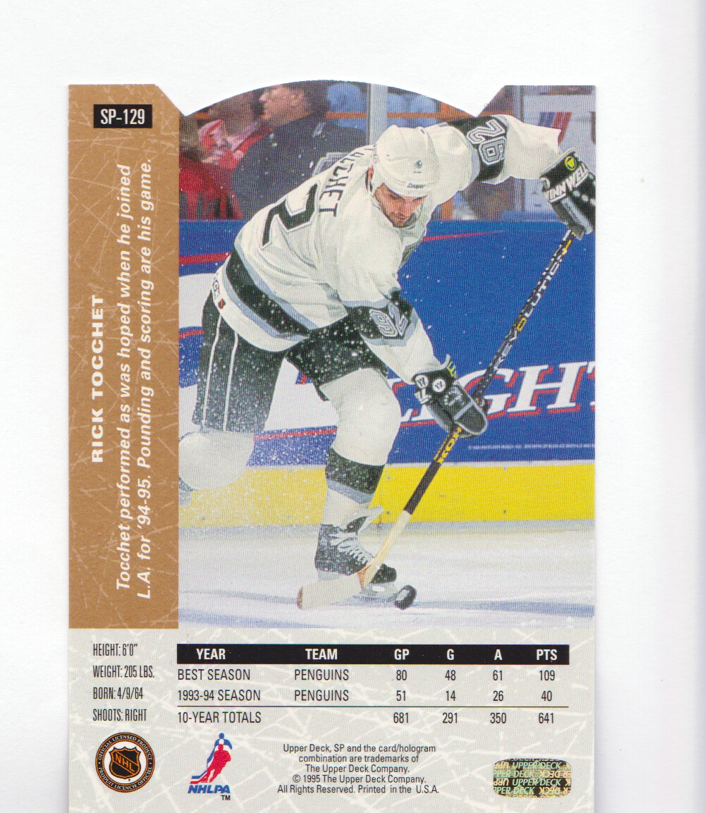 1994-95-Upper-Deck-SP-Inserts-Die-Cuts-Hockey-Cards-Pick-From-List miniature 87
