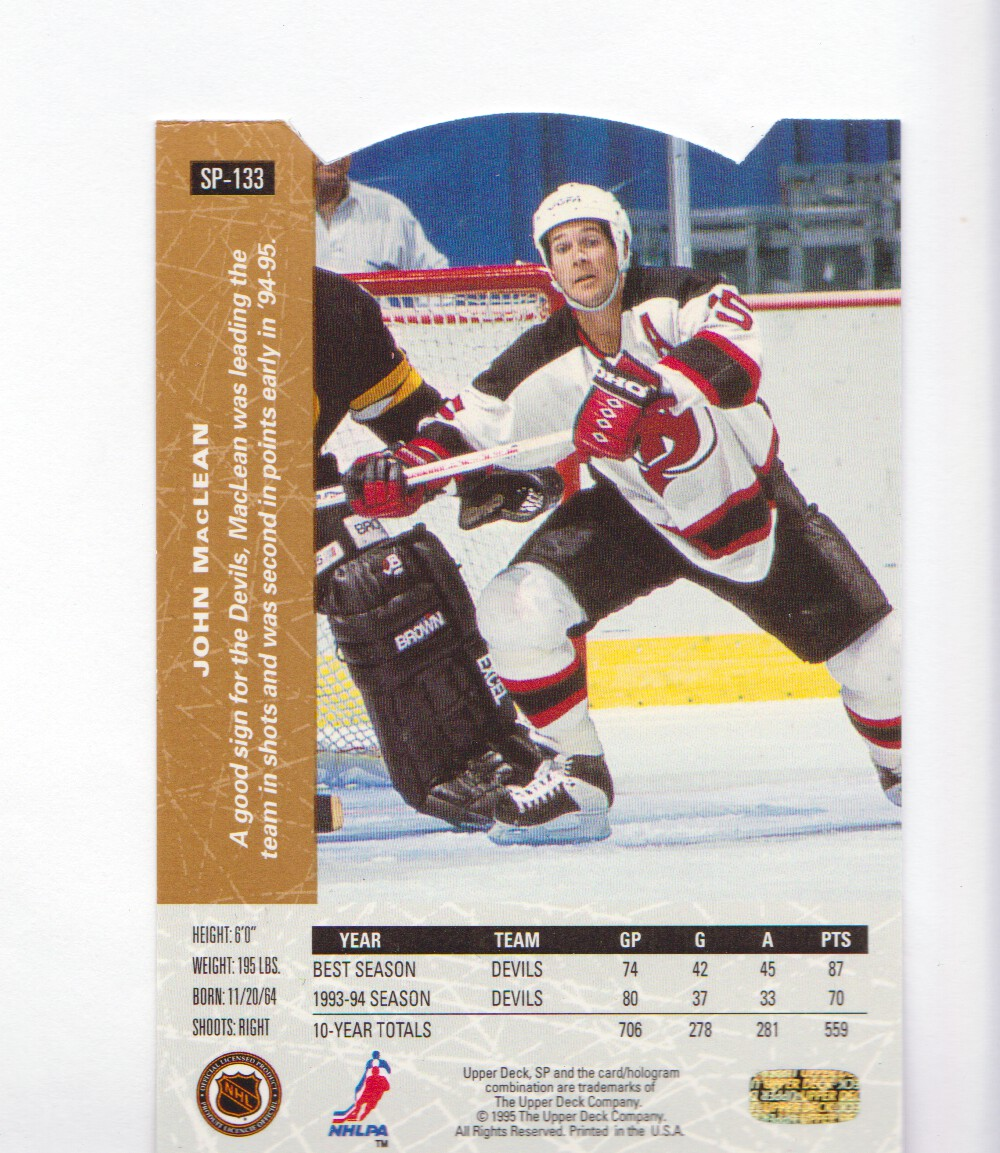 1994-95-Upper-Deck-SP-Inserts-Die-Cuts-Hockey-Cards-Pick-From-List miniature 89