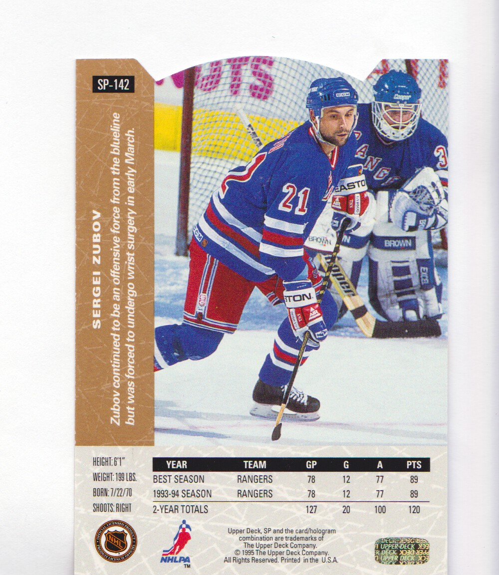 1994-95-Upper-Deck-SP-Inserts-Die-Cuts-Hockey-Cards-Pick-From-List miniature 93