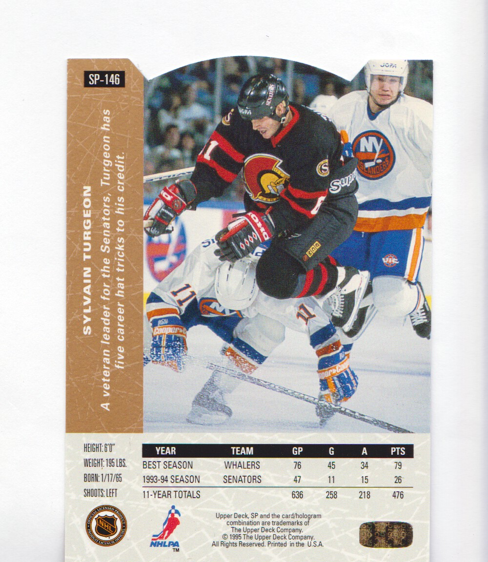 1994-95-Upper-Deck-SP-Inserts-Die-Cuts-Hockey-Cards-Pick-From-List miniature 95
