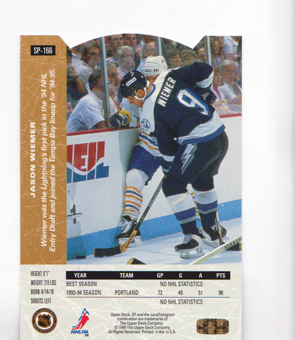 1994-95-Upper-Deck-SP-Inserts-Die-Cuts-Hockey-Cards-Pick-From-List miniature 107