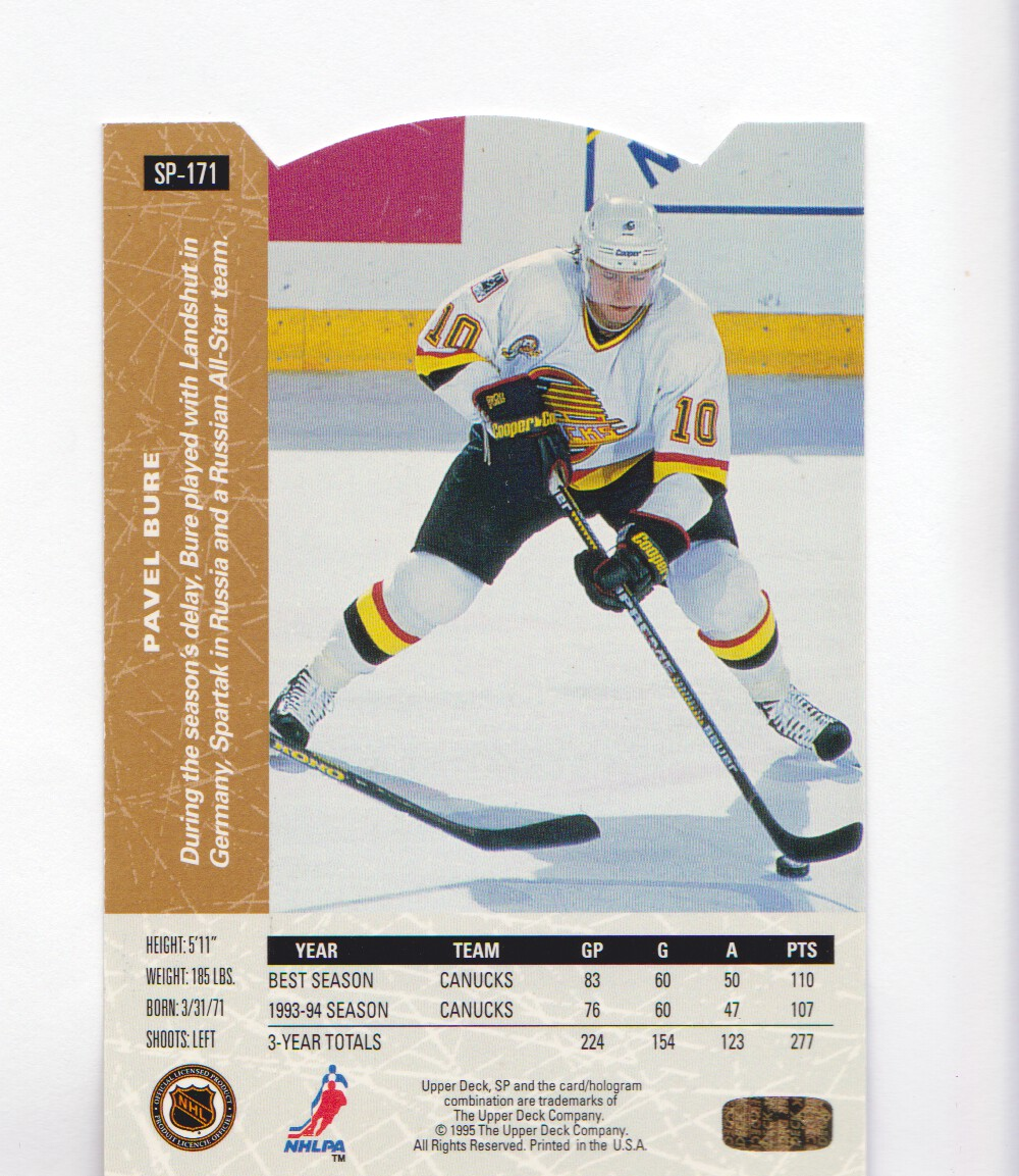 1994-95-Upper-Deck-SP-Inserts-Die-Cuts-Hockey-Cards-Pick-From-List miniature 111