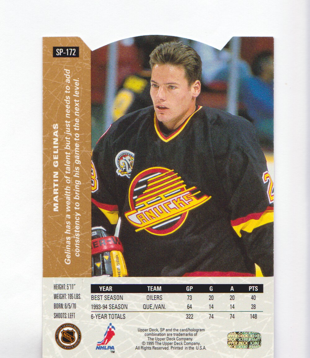 1994-95-Upper-Deck-SP-Inserts-Die-Cuts-Hockey-Cards-Pick-From-List miniature 113