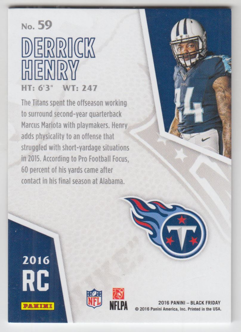 f615444ce 2016 Panini Black Friday Thick Stock  59 Derrick Henry  50. Front. Back