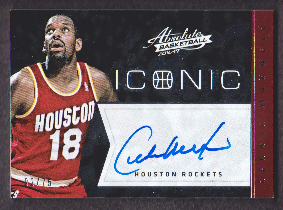 2016 17 Absolute Iconic Autograph 40 Cedric Maxwell Auto 75