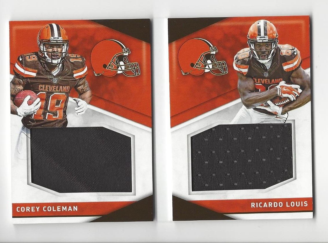 uk availability b59d7 81837 Details about 2016 Preferred Pairings Corey Coleman/Ricardo Louis JERSEY  BOOK Browns /199