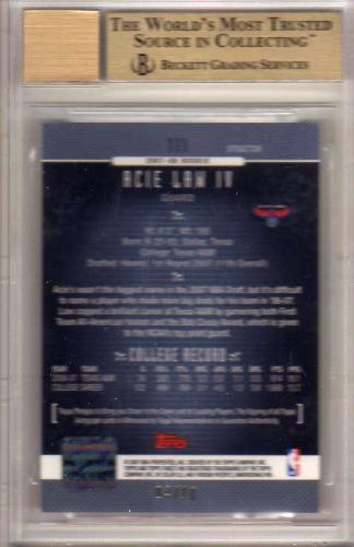 2006-07 Finest Draft Picks Autographs X-Fractors #111 Acie Law back image