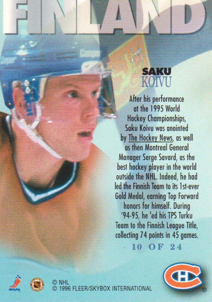 1995-96-Metal-International-Steel-Hockey-Cards-Pick-From-List thumbnail 7