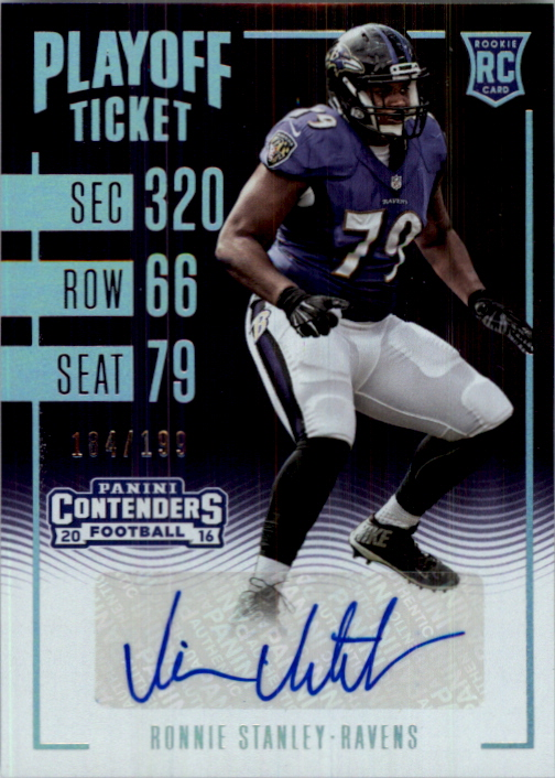 2016 Panini Contenders Playoff Ticket #104 Ronnie Stanley AU/199
