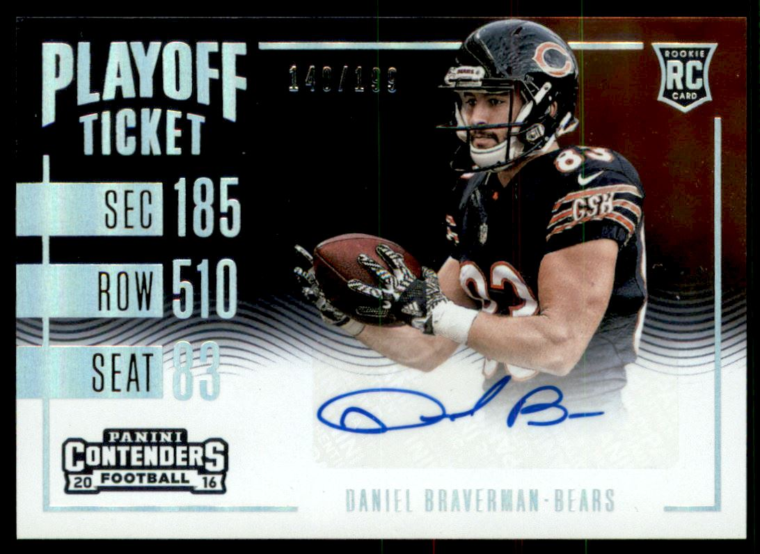 2016 Panini Contenders Playoff Ticket #283 Daniel Braverman AU/199