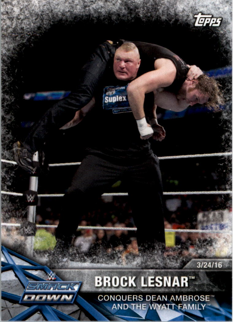 2017 Topps WWE Road to WrestleMania #45 Brock Lesnar