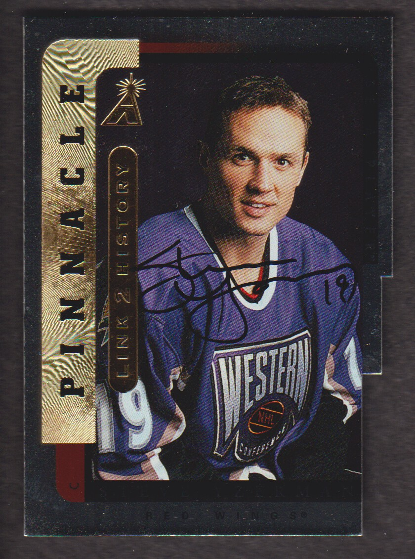 1996-97 Be A Player Link to History Autographs Silver #9B Steve Yzerman