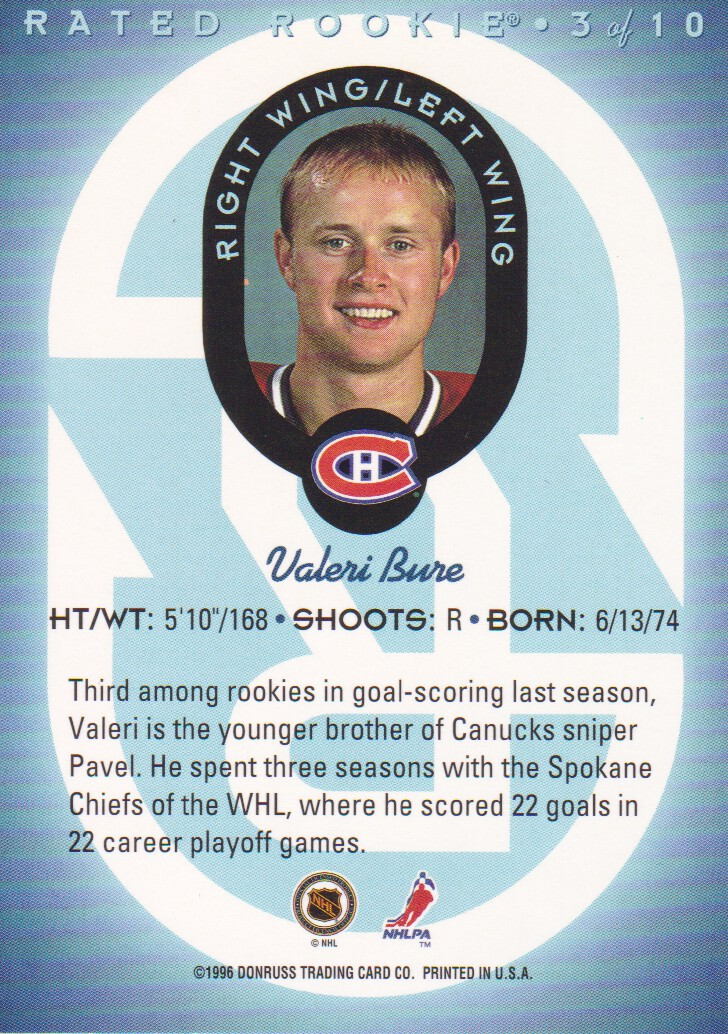 1996-97-Donruss-Rated-Rookies-Hockey-Cards-Pick-From-List thumbnail 5