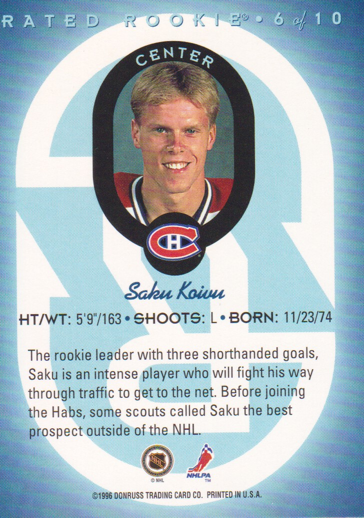1996-97-Donruss-Rated-Rookies-Hockey-Cards-Pick-From-List thumbnail 9