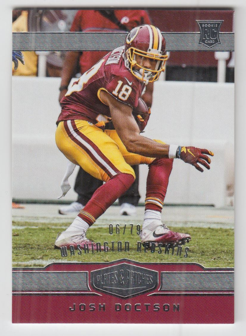 2016 Panini Plates and Patches  190 Josh Doctson RC  79  3cd6f59ff