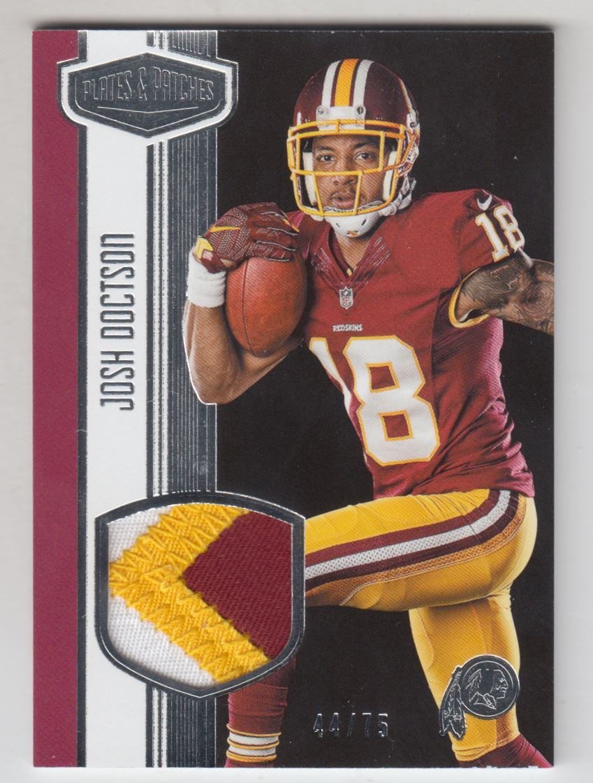 2016 Panini Plates and Patches Rookie Patches  22 Josh Doctson Jersey  75 971161ec9