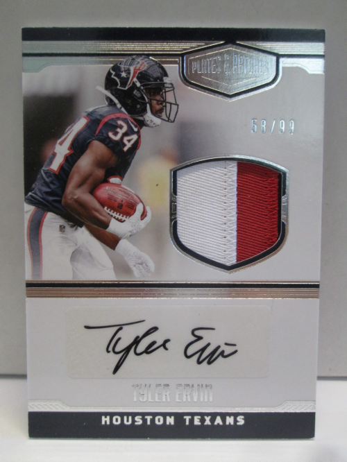 2016 Panini Plates and Patches Rookie Patch Autographs #14 Tyler Ervin/99
