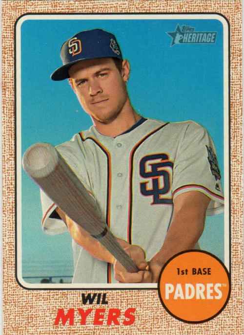 2017 Topps Heritage Bright Yellow Back #442 Wil Myers