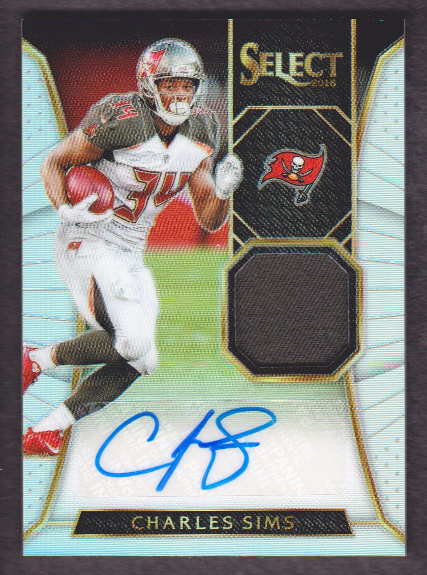 2016 Select Autograph Materials Prizm #23 Charles Sims/49