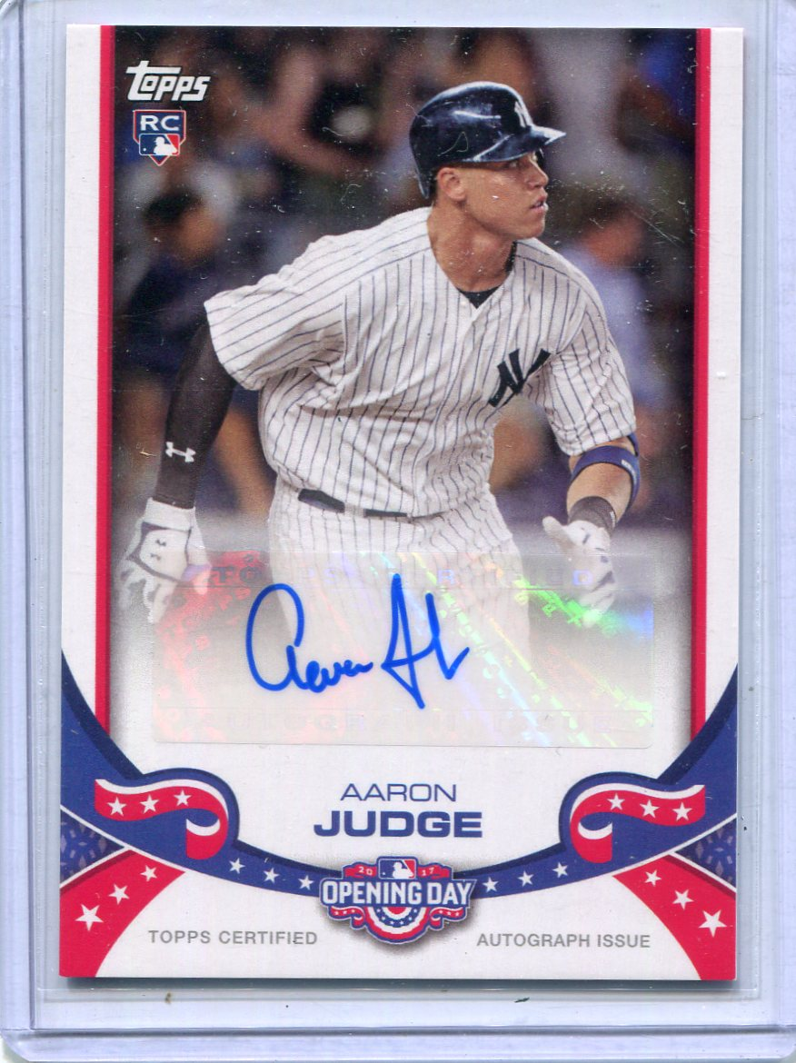Details About 2017 Topps Opening Day Autographs Aaron Judge Nm