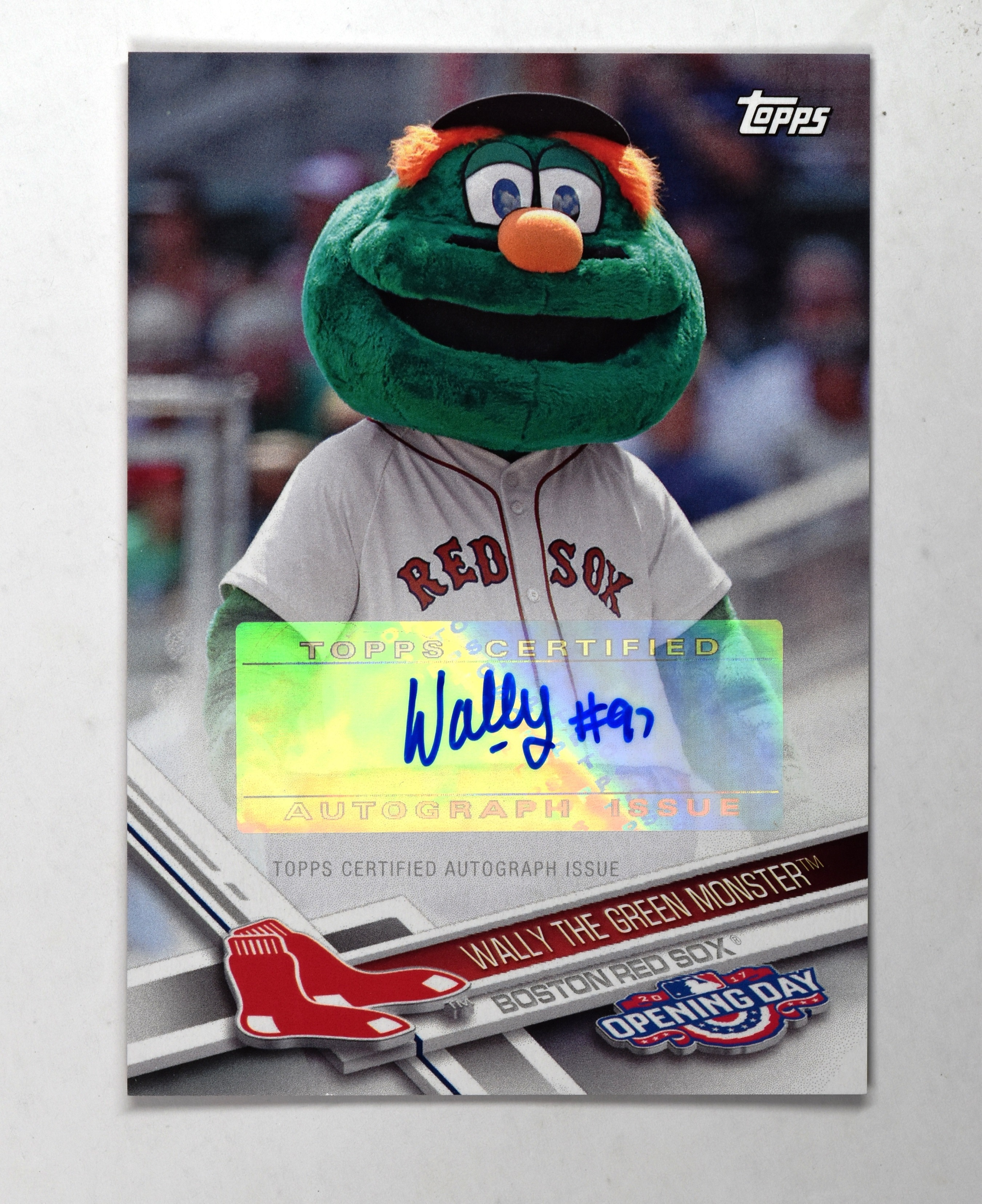 2017 Topps Opening Day Mascot Autographs Mawgm Wally The Green