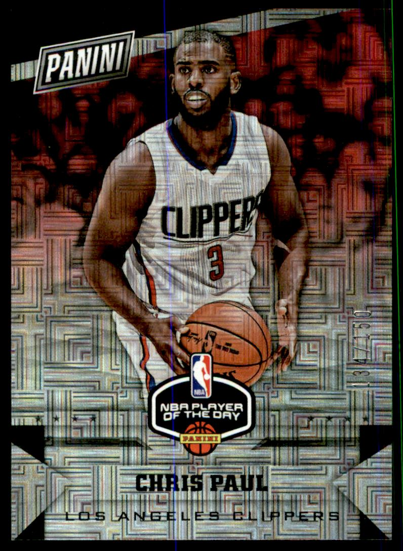 2017 Panini Player of the Day Escher Square Prizms #8 Chris Paul/150