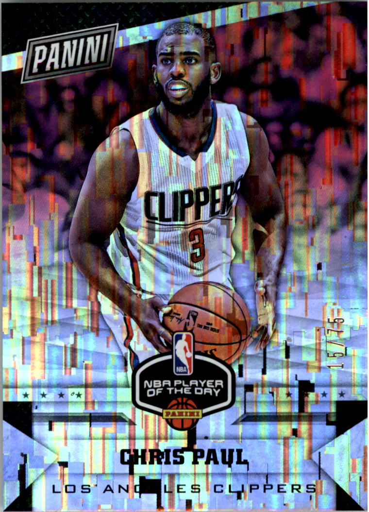2017 Panini Player of the Day Wind Chime Prizms #8 Chris Paul/75