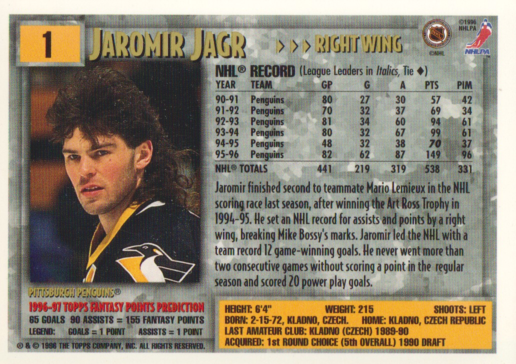 1996-97-Topps-Picks-Hockey-Cards-Pick-From-List thumbnail 3
