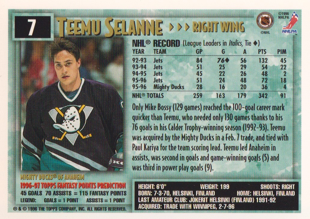 1996-97-Topps-Picks-Hockey-Cards-Pick-From-List thumbnail 9