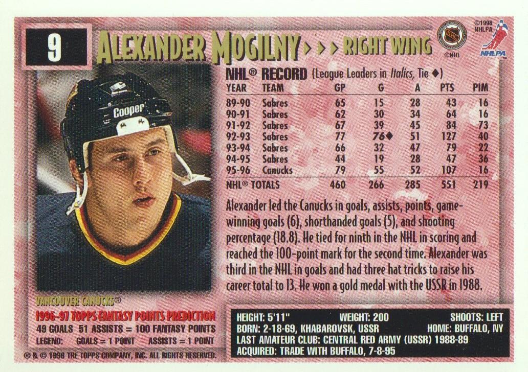 1996-97-Topps-Picks-Hockey-Cards-Pick-From-List thumbnail 11