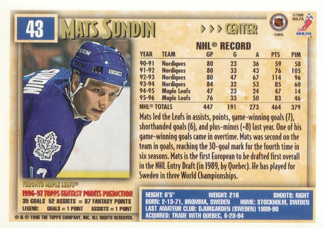 1996-97-Topps-Picks-Hockey-Cards-Pick-From-List thumbnail 45