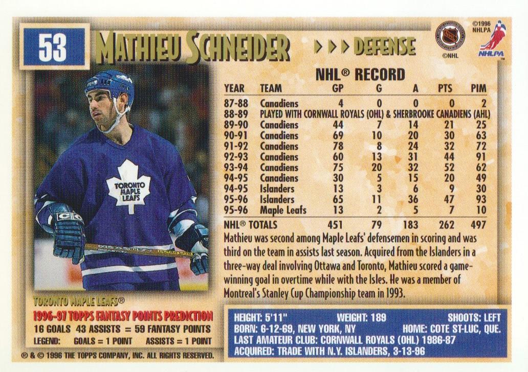 1996-97-Topps-Picks-Hockey-Cards-Pick-From-List thumbnail 55
