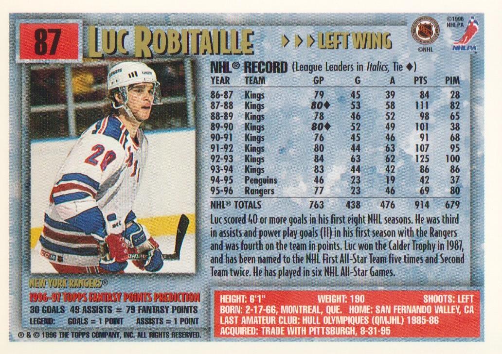 1996-97-Topps-Picks-Hockey-Cards-Pick-From-List thumbnail 87