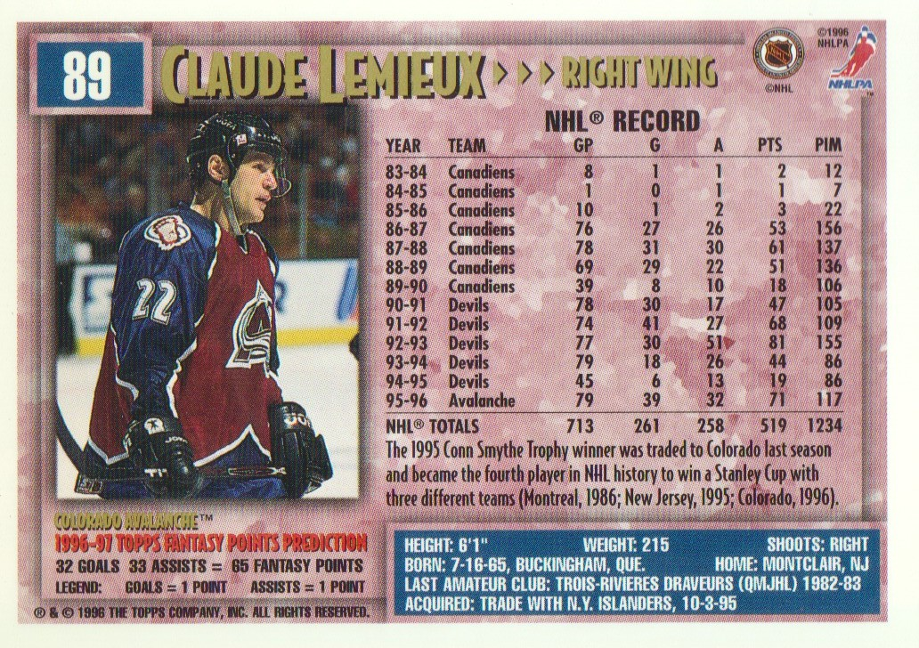 1996-97-Topps-Picks-Hockey-Cards-Pick-From-List thumbnail 89