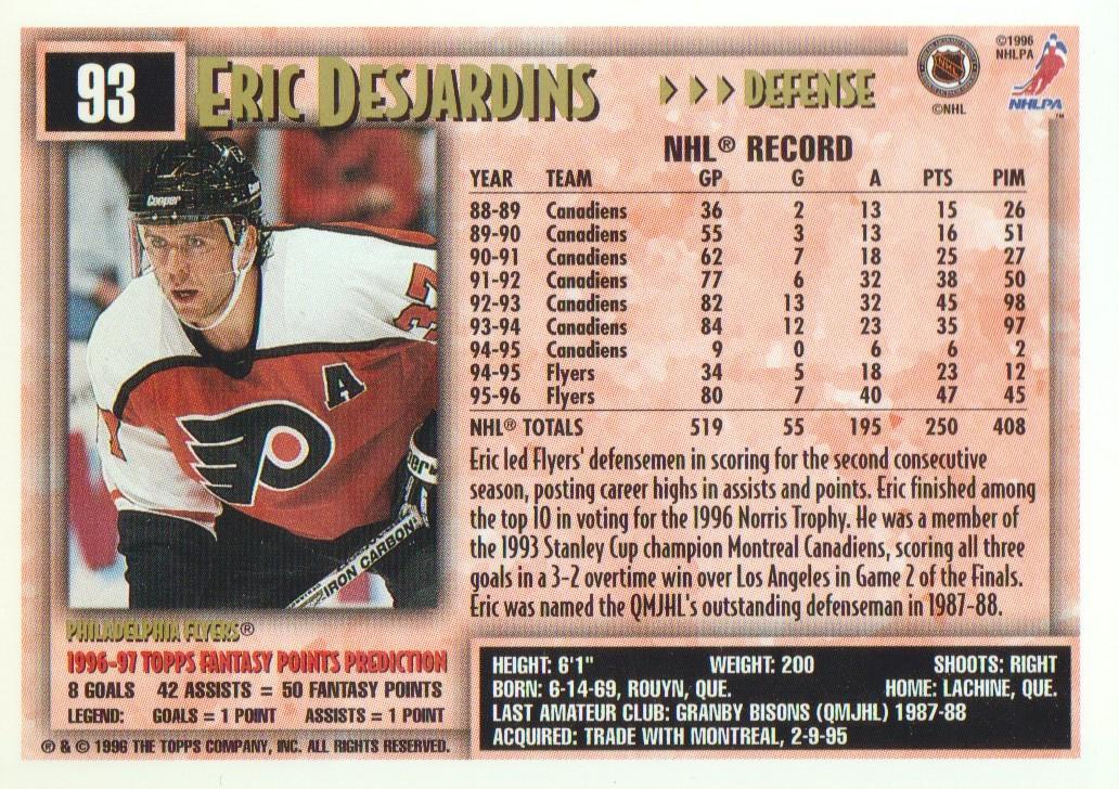 1996-97-Topps-Picks-Hockey-Cards-Pick-From-List thumbnail 93