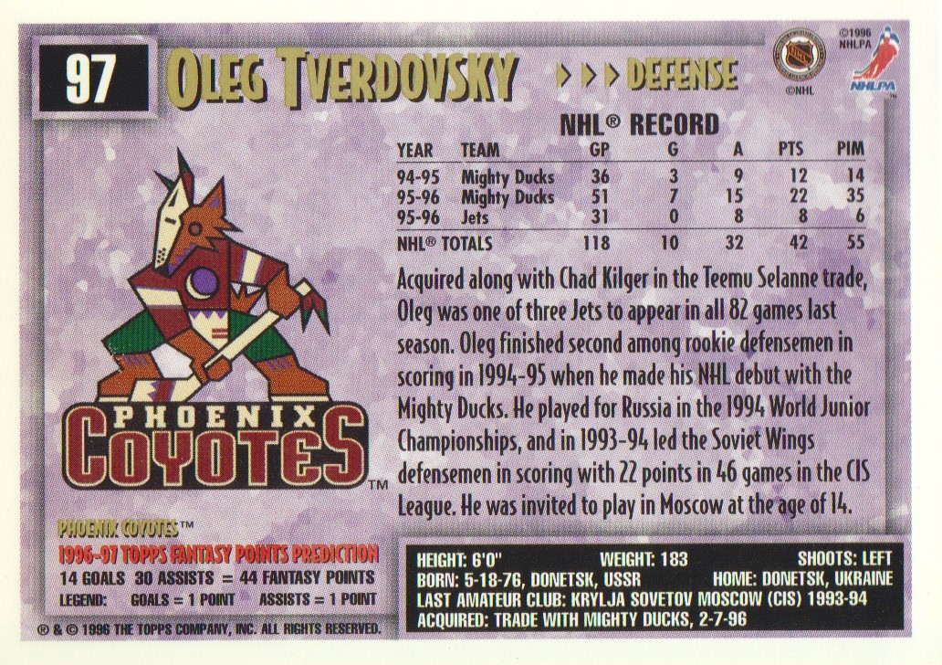 1996-97-Topps-Picks-Hockey-Cards-Pick-From-List thumbnail 97