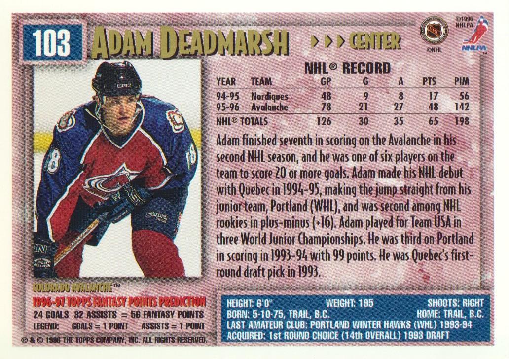 1996-97-Topps-Picks-Hockey-Cards-Pick-From-List thumbnail 103