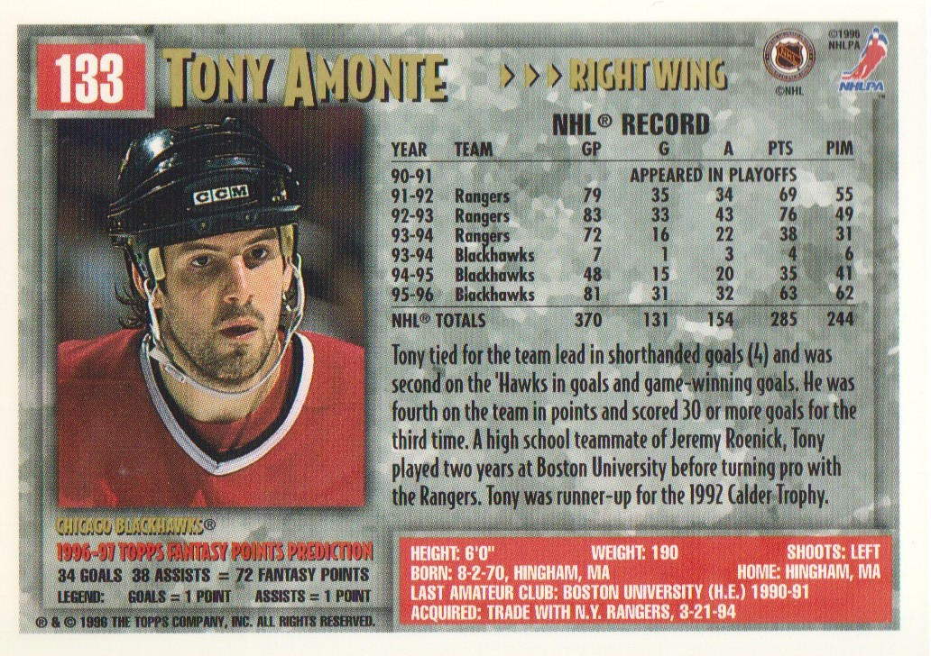 1996-97-Topps-Picks-Hockey-Cards-Pick-From-List thumbnail 133