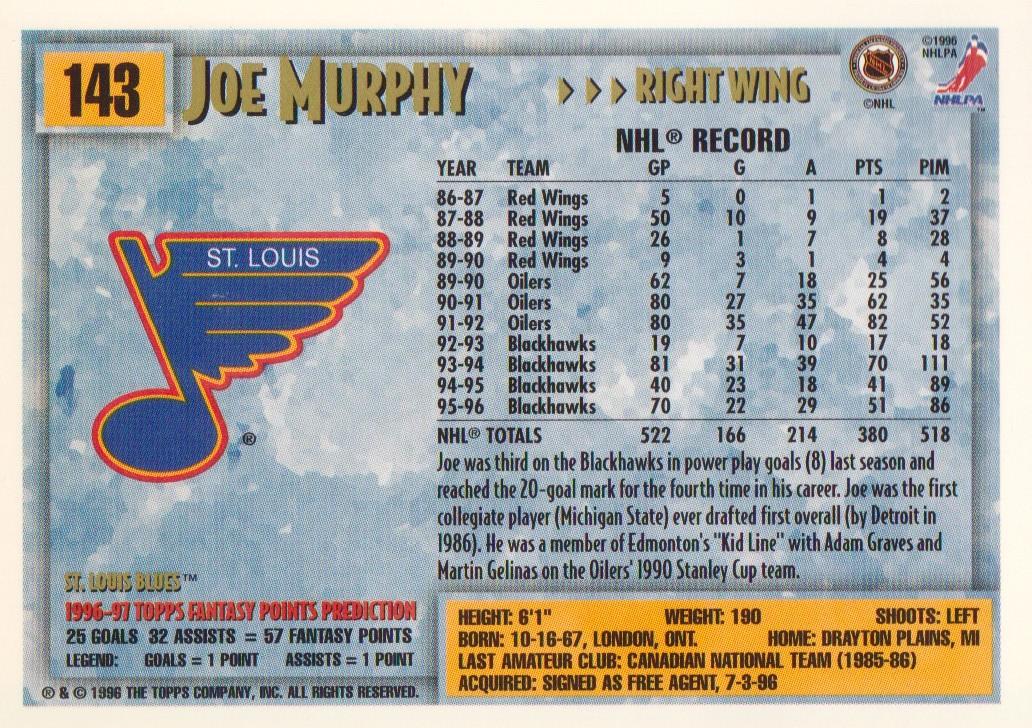 1996-97-Topps-Picks-Hockey-Cards-Pick-From-List thumbnail 143