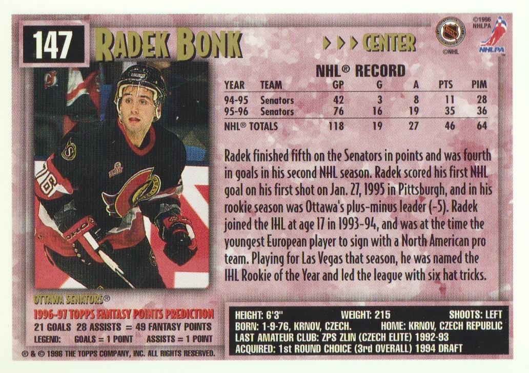 1996-97-Topps-Picks-Hockey-Cards-Pick-From-List thumbnail 147